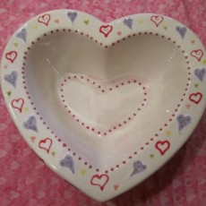 Valentines Candy Dish