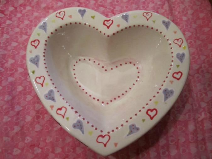 Valentine Candy Dish.