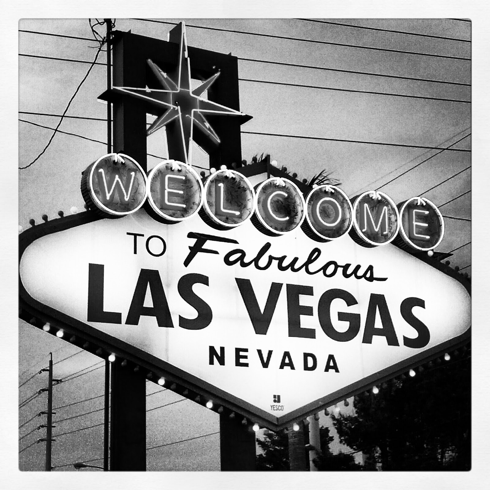 Las vegas in black white photography wendys hat