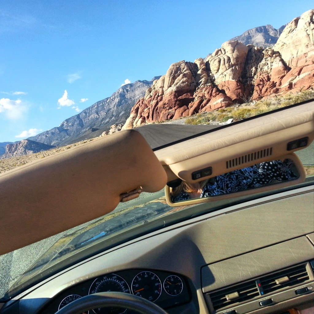 Red Rock Canyon as seen from my convertible