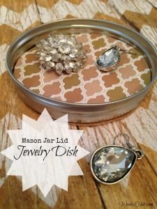 Mason Jar Lid Jewelry Dish