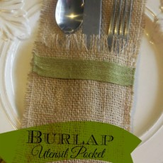 Burlap Utensil Pocket