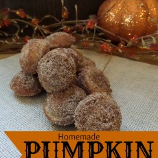 Homemade Pumpkin Donut Holes