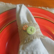 Burlap and Buttons Napkin Rings