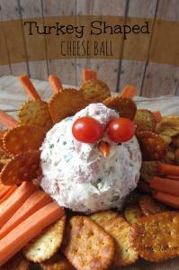 Turkey Shaped Cheese Ball