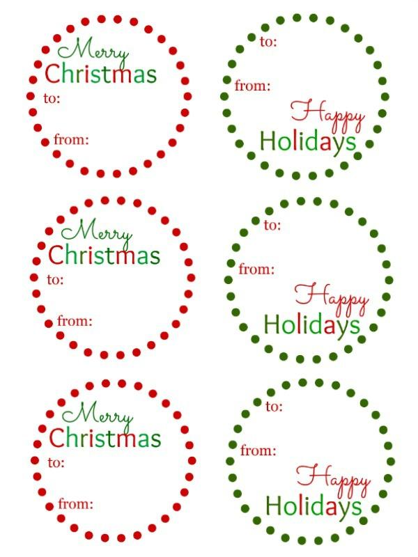 Christmas Gift Tag free download