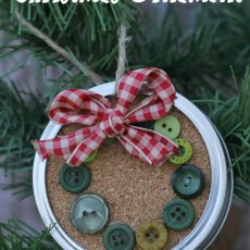 Mason Jar Ring Christmas Ornament
