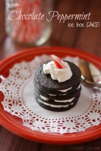 No bake mini Chocolate Peppermint ice box cake