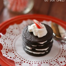 No Bake Mini Chocolate Peppermint Icebox Cake