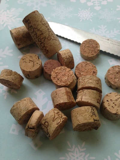 wine corks into ornaments