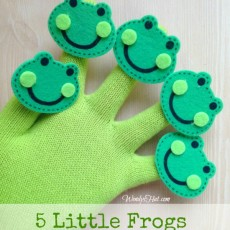 Five Little Frogs Finger Play Glove