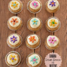 Banana Cream Cheese Mini Muffins
