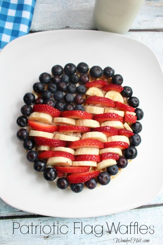 Patriotic Flag Waffles