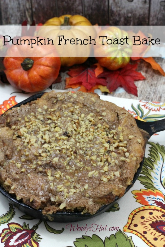 Cast Iron Skillet Pumpkin French Toast Bake