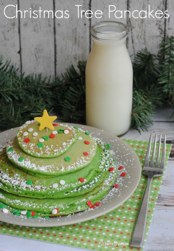 Christmas Tree Pancakes recipe that is sure to make everyone smile and ask for more!