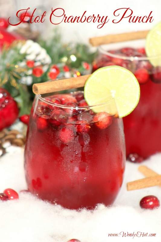 Hot Cranberry Punch Recipe that is perfect for the holidays!