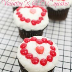 Valentine X & O Cupcakes