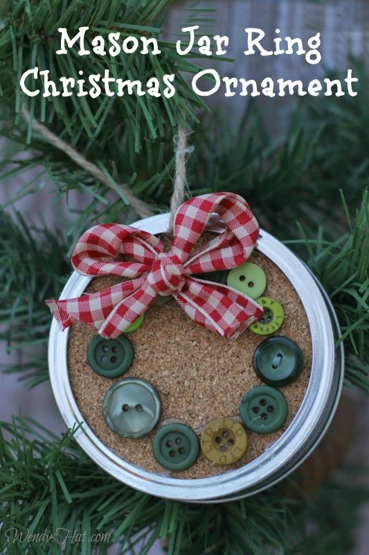 Gift For Christmas: Mason Jar Ring Christmas Ornament